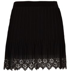 MANGO Laser-cut hem miniskirt ($70) found on Polyvore  I have a skirt just like this
