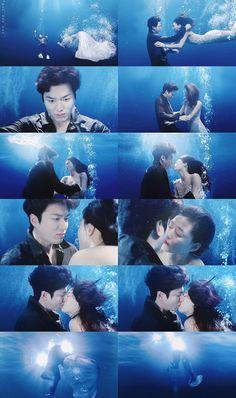 Legend of the blue sea , Jeon ji hyun , Jun ji hyun , Lee min ho 2016 #underwaterkiss