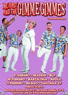 ME FIRST AND THE GIMME GIMMES Santana 27 (Fever Club), Bilbao, 11/II/2017 | Cartel de Me First and The Gimme Gimmes | GALERÍA completa || Full GALLERY: http://denaflows.com/galerias-de-fotos-de-conciertos/m/me-first-and-the-gimme-gimmes/