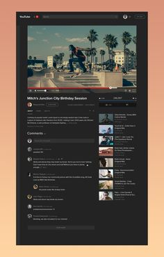 YouTube Video Page
