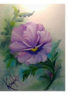 how to paint a flower with ruffles