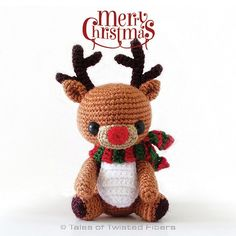 Rudy, The Reindeer - Free crochet pattern by Serah Basnet / Tales of Twisted Fibers. Measures 4.5 inch to the tip of his ears in 4ply/sock yarn.