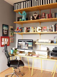 Decor da estação de trabalho do Edu - Blog Homens da Casa <3