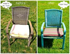 repainted metal furniture #springintothedream