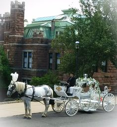 A really great photo of Lambert Castle and our Cinderella Carriage.