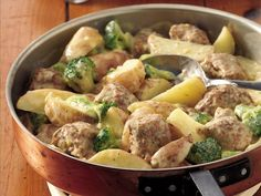Creamy Meatballs and Potatoes-This looks like a quick & easy weeknight dinner to try!