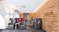 CRi Cronauer y Romani Innenarchitekten GmbH diseñaron un nuevo concepto de Lounge junto a la Deutsche Bahn. El lenguaje del... KRION SOLID SURFACE