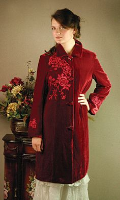 540b4e5870 Velvet Dress Coat from Victorian Trading Company Opera Coat