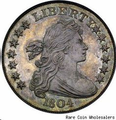 """The 1804 silver dollar. """"The King of U.S. Coins"""" resoundingly reaffirmed its claim to that throne on Aug. 30, 1999, when the Childs specimen, the finest-known example of this famous American rarity, changed hands at auction for $4.14 million -- more than double the previous record for any U.S. coin at that time."""