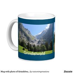 Mug with photo of Grindelwald valley Switzerland. This is one of the Switzerland collection. #switzerland #souvenir #mug #swiss #schweiz #travel