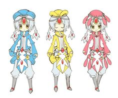human version gijinka pokemon, azelf, mesprit, and uxie
