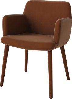 BOLIA krzesło tapicerowane z podłokietnikami C3 tapicerowana podstawa AnOther DESIGN