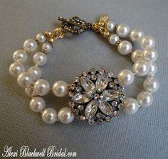 Bridesmaid Bracelet Set Swarovski Pearls by AlexiBlackwellBridal, $65.00
