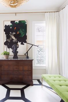 Pantone, the color authority, reveled yesterday the hue that will color Greenery. Find here how to decorate with Greenery, Pantone Color Of The Year Color Of The Year 2017 Pantone, Pantone Color, Interior Decorating, Interior Design, Decorating Ideas, Lounge, White Houses, Elle Decor, Furniture