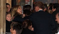 Still Friends: Harry greets Chelsy at the annual Christmas memorial service held for a mutual close friend