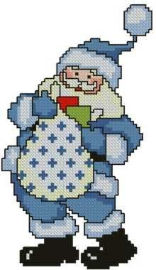 Advanced Embroidery Designs - Santa with Gift