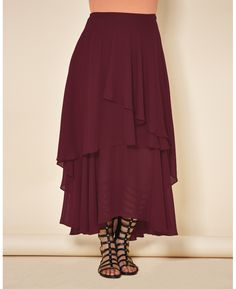 """""""Simply Be"""" Simply Be Tiered Skirt at Simply Be"""