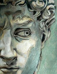 Sketch of Michelangelo's David
