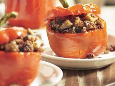 Gevulde paprika met oosters gehakt