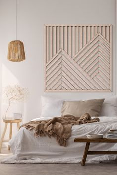 This Mountain Wood Wall Art will make a beautiful centerpiece of your decor! Modern Wooden Wall Art Art is a perfect way to complement the decor at your home! Besides, our Geometric Wood Wall Hanging will be a great present for your loved ones! Diy Home Decor Easy, Diy Home Decor Bedroom, Room Decor, Decor Diy, Wall Art Bedroom, Living Room Wall Art, Wooden Wall Bedroom, Home Decor Wall Art, Diy Wall Decorations