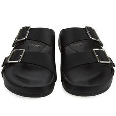 c62767465dd6 Givenchy Nappa Leather Sandals (Black) (27
