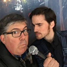 """""""Before @colinodonoghue1 hijacked my interview, he practiced grilling me! @onceabcofficial #once100 #hook4ever"""" Photo taken by @jimhalterman on Instagram, pinned via the InstaPin iOS App! http://www.instapinapp.com (02/21/2016)"""