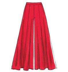 M6965 Flared short, shorts and pants (very loose-fitting through hips) have contour waistband, princess seams, back zipper and narrow hem. #mccalls