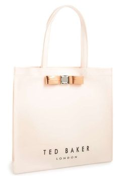 d88d4a8bb23632 Ted Baker London Pale Pink Bow Icon Tote