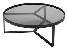 Aula Coffee Table, Black and Grey
