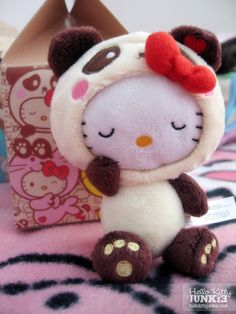 Aww, I so want this-Hello Kitty Panda Plushie from Urban Outfitters <3