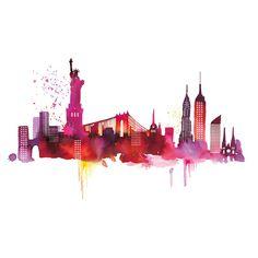 Found it at Wayfair.co.uk - New York Skyline by Summer Thornton Art Print on Canvas