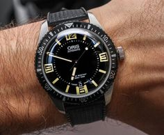 Oris Divers Sixty Five Watch Hands-On - toy watch, black watch men, popular watches for men *ad