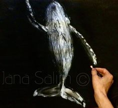 "Gefällt 56 Mal, 1 Kommentare - janouk (@janouk.sketch) auf Instagram: ""'uplift' charcoal & oil pastel on paper Inspired by @thurstonphoto 🐋 #drawing#whale#deep#sea…"""