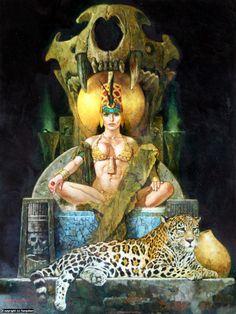 Infected By Art » Art Gallery » Manuel Sanjulian » Priestess in Sanjulian Gallery