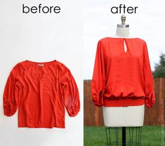 Give a shapeless shirt some life.......and add some shirring (smocking) around the bottom. (no special needles or machines needed.) www.makeit-loveit.com