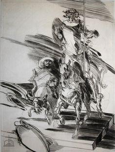 SANCHO gravure de Claude WEISBUCH