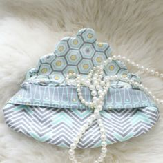 Stunning beaded clutch by Camelot Fabrics, featuring our Penelope collection