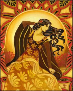 Madame Soleil - Sun Goddess. Across many cultures the solar goddess represents vitality and fertility. She is the keeper of the light that illuminates all life and ensures consciousness.