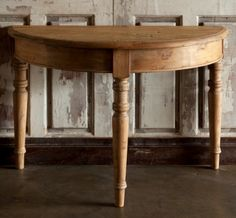 Demi Lune Table www.barndancevintage.com