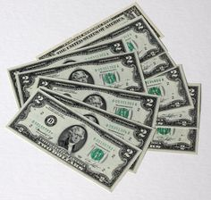 Currency Lot - Two Dollar Bills ($2.00)
