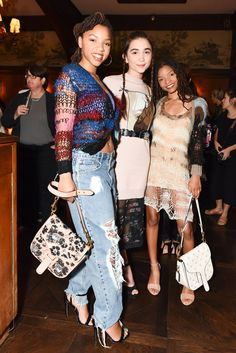 Chloe Bailey, Rowan Blanchard in Coach & Rodarte, and Halle Bailey