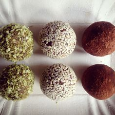 Raw energy balls. Simple, quick, no bake, dairy free, gluten free. And delicious.