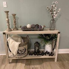 Arsenault Urban Console Table Arsenault Urban Console Table rustic home decor shelves Decor, Entry Table Decor, Rustic Decor, Farm House Living Room, Rustic House, Diy Decor, Living Decor, Entryway Decor, Rustic Home Decor