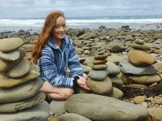 Came across this beautiful place of stacking rocks on the great ocean rd yesterday so Beth and I built one too to add to the collection! There were 100's of rock piles!! Amazing!  #lorne #roadtrips #adventures #travel #beach #rocks #clouds #newjumper #happy #fun by ckohinga http://ift.tt/1IIGiLS