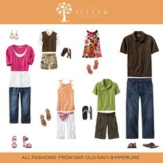Examples of a family outfit for portraits - Spring