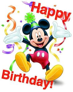 Happy Birthday Mickey Mouse Images and Quotes - Happy Birthday Time Happy Birthday Mickey Mouse, Wish You Happy Birthday, Happy Birthday Pictures, Happy Birthday Messages, Happy Birthday Quotes, Happy Birthday Greetings, Disney Happy Birthday Images, Disney Birthday Wishes, Mickey Mouse E Amigos