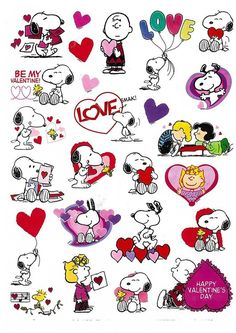 Peanuts Characters Snoopy, Woodstock, Charlies Brown, Lucy Valentine stickers Acid-Free and lingnin-free; Safe for scrapbooking or other uses 1 Sheet measuring x and contains 25 stickers Snoopy Valentine's Day, Snoopy Comics, Snoopy Love, Snoopy And Woodstock, Peanuts Snoopy, Charlie Brown Valentine, Charlie Brown And Snoopy, Snoopy Drawing, Snoopy Tattoo