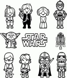Star Wars Coloring Pages Free Printable Lets Party Pinterest