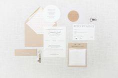 Oh So Beautiful Paper: Jessica + Jake's Modern Winter Wedding Invitations