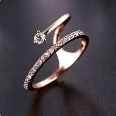 2015 Summer New Special Rose Gold Zirconia Cocktail Ring  - $34.99